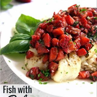 Fish with Balsamic Strawberry Salsa