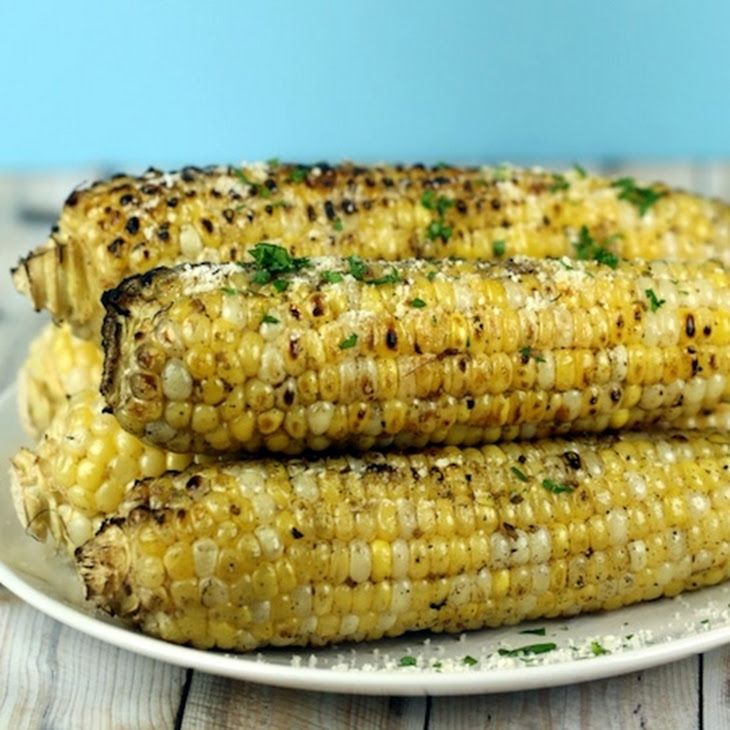 Garlic Parmesan Grilled Corn on the Cob Recipe | Yummly