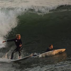 HB Surfers by Jose Matutina - Sports & Fitness Cricket ( surfer, sport )