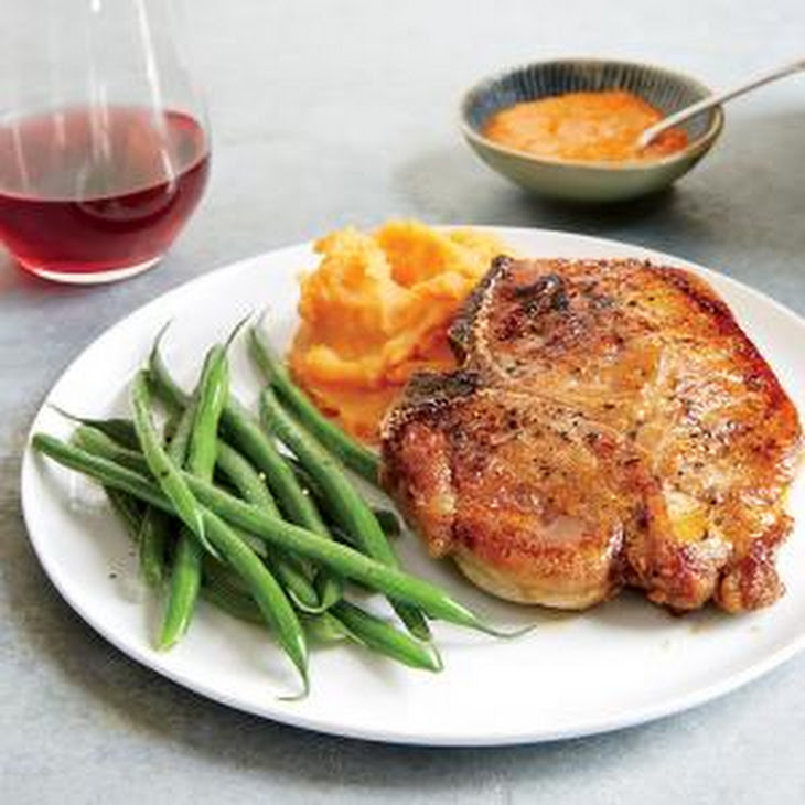 Moroccan-Spiced Pork Chops with Mashed Sweet Potatoes Recipe | Yummly