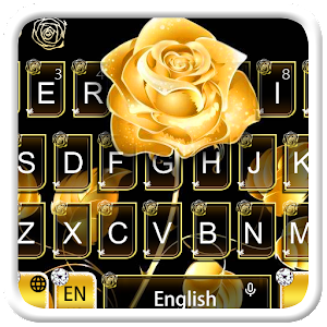 Gold Rose Keyboard Theme