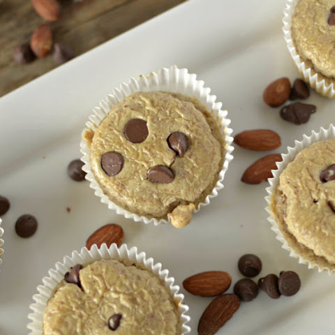 Flourless Salted Caramel Chocolate Chip Muffins