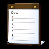 ジョルテアジェンダ:縦スクロール カレンダー・スケジュール帳