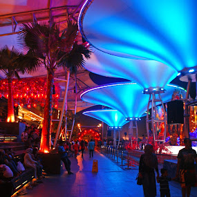 Night at Baywalk by Mulawardi Sutanto - City,  Street & Park  Night ( pluit, jakarta, baywalk, travel, mall )