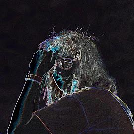 fun with photoshop.  Leslie Kreymborg Sluder the rock star by Jeff Sluder - Illustration People
