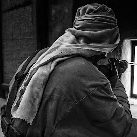 The Guard by Ebtesam Elias - Black & White Objects & Still Life