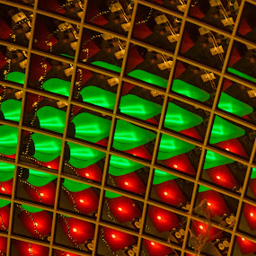 Cabot Circus Christmas Lights by Sinclair Parkinson - Abstract Patterns ( canon, abstract, 7d, sinclair parkinson, canon 7d )