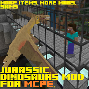 Download New Jurassic v2 Mod For MCPE, Skins, Items, Mobs for PC