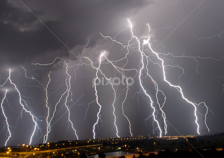 Thundergod's Wrath by Craig Powell - Landscapes Weather ( lightning strike, lightning, thunderstorm, pretoria, south africa, electric storm, storm, , #GARYFONGDRAMATICLIGHT, #WTFBOBDAVIS )