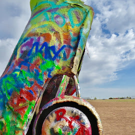 Cadillac Ranch, Amarillo TX by Kerry Demandante - Artistic Objects Other Objects ( colour, amarillo, color, grafetti, cadillac,  )