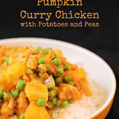 Pumpkin Curry Chicken with Potatoes and Peas
