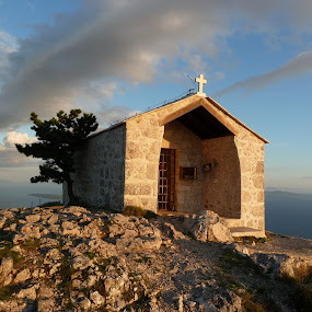 chapel  on st.Nicola's hill by Čedna Dadić - Buildings & Architecture Places of Worship ( christian, chapel, hvar, worship, island )