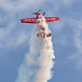Stunt Plane by Louis Pretorius - Transportation Airplanes