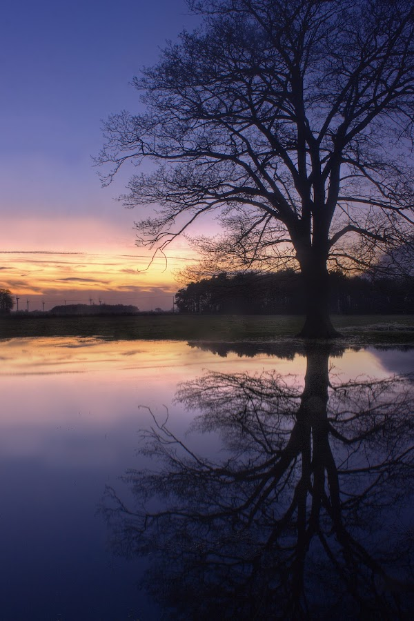 Howden reflected I by Keith Britton - Landscapes Prairies, Meadows & Fields