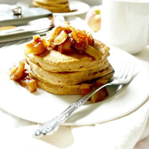 Sweet Potato Pancakes with Spiced Apple Compote