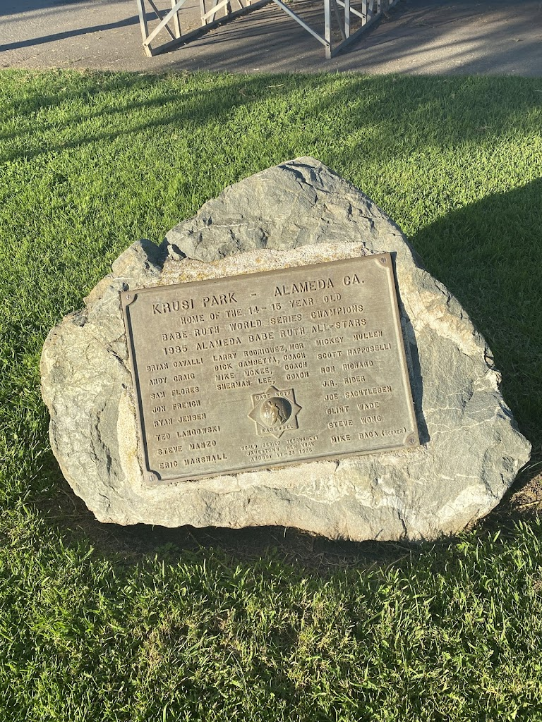 Plaque dedicated to the 1985 Alameda Babe Ruth World Series champions, who won the tournament in Jamestown New York in August 1985. Congrats!