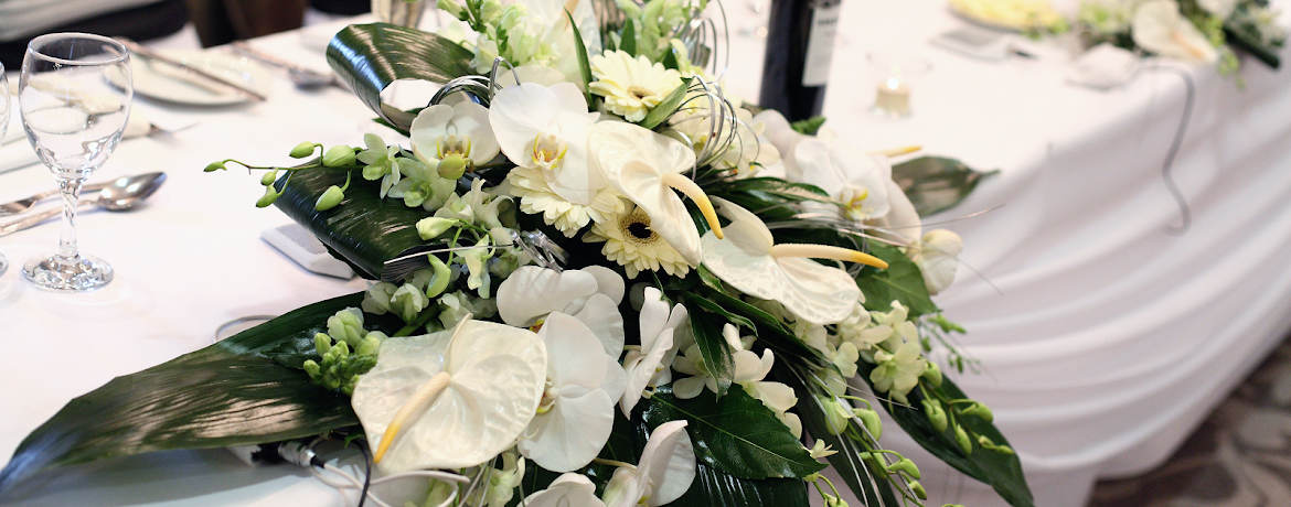 Reception & Top Table Flowers from Cheshire Weddings