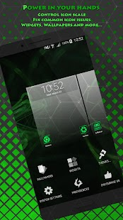 Free Green Flame Launcher + Themes APK for Windows 8