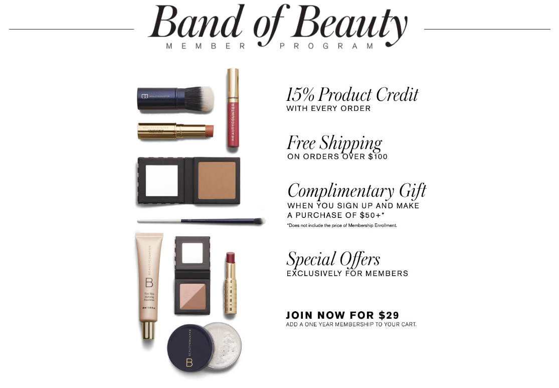 Beautycounter Band of Beauty Member