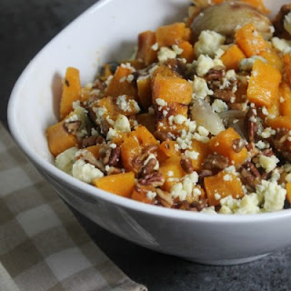 Roasted Butternut Squash With Pecans, Shallots and Blue Cheese