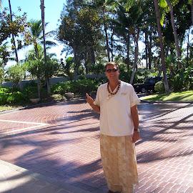 Hawaiian Valet by Arlita Baptista - People Portraits of Men