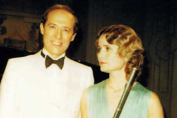 With Susan Milan, Made Up 30's Style for Poulence Film, Frankfurt, 1985