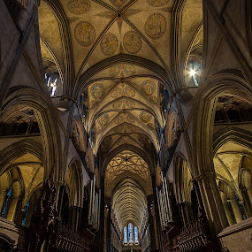 Salisbury Cathedral. by Simon Page - Buildings & Architecture Places of Worship