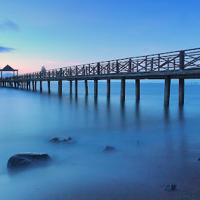 Blue Dusk by Andrew Supit - Landscapes Waterscapes
