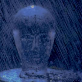 Glass Head by Staffan Håkansson - Digital Art Things ( water, glass, rapsbollen, head, pond )