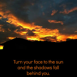 Turn to the Sun by Lina Marano - Typography Quotes & Sentences ( sun hope )