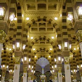 Nabawi by Dedy Eka Saputra - Buildings & Architecture Places of Worship ( islam, mosque, medina, saudi arabia, moslem )