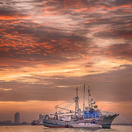by Lim Keng - Transportation Boats