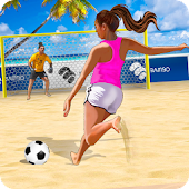 Shoot Goal - Girls Beach Soccer: summer freekick