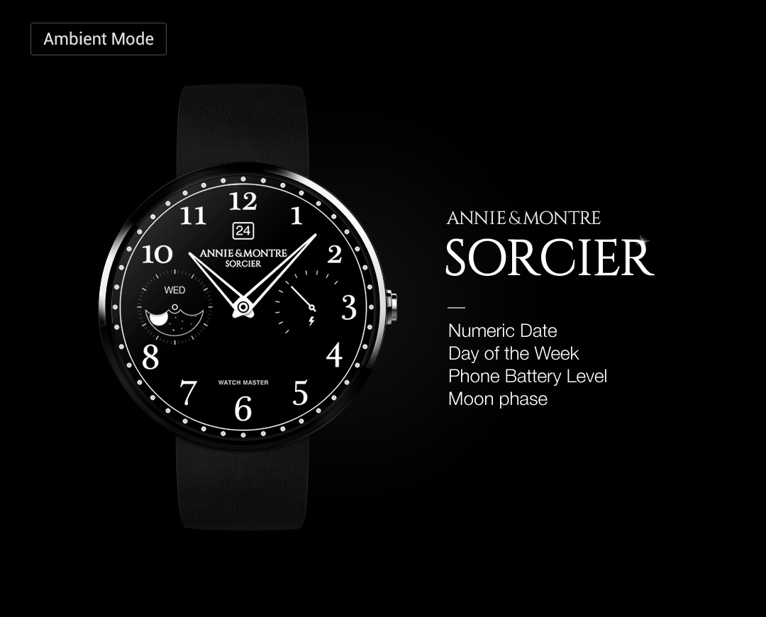 Sorcier watchface by Annie&Mon Screenshot 7