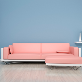blue room with a sofa by Markus Gann - Illustration Products & Objects ( nobody, interior, single, wood, relax, study, architecture, furniture, comfortable, seat, shelf, pink, leather, vase, books, minimalism, art, white, picture, frame, floor, horizontal, interiors, contemporary, wall, room, home, indoor, apartment, space, modern, sofa, style, stylish, lounge, loft, grey, exhibition, decoration, elegance, divan, front, gray, living, luxury, couch, blue, comfort, background, brown, design )