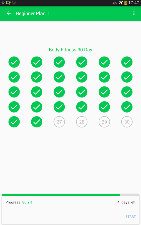 30 Day Fit Challenge Workout Screenshot