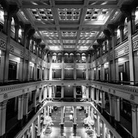 Landmark Center by Jeremy Jordan - Buildings & Architecture Architectural Detail ( minnesota, black and white, landmark center, architecture, st. paul )