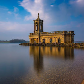 Normanton Church Rutland by Jackie Goodwin - Buildings & Architecture Other Exteriors ( water, nature, reflections, architecture, landscapes )