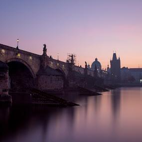 Charles Bridge by Robert Grim - City,  Street & Park  Historic Districts ( europe, fotografia, czech, czech republic, foto, morning, prague )