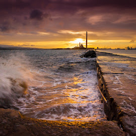 Great South Wall, by Marek Bator - Landscapes Sunsets & Sunrises