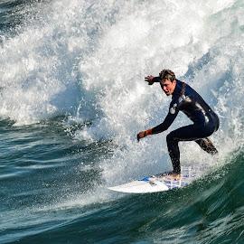 HB Surfer by Jose Matutina - Sports & Fitness Surfing ( orange county, surfer, california, sport, huntington beach )