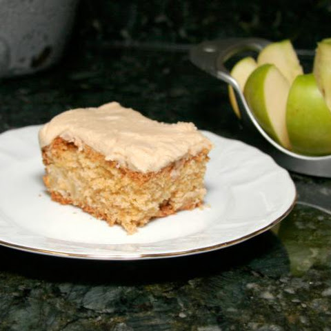 Fresh Apple Cake with Caramel Frosting