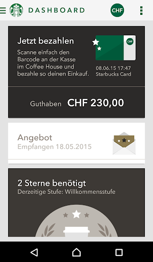 Starbucks Switzerland screenshot 1