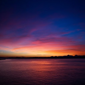Sunset over Puget Sound by Jamie Newton - Landscapes Waterscapes ( washington, puget sound, sunset )