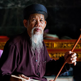 monk by Sorin Tanase - People Portraits of Men ( ald man, monk, old, vietnamese, vietnam, man )