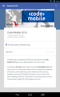 Code/Mobile Conference - screenshot