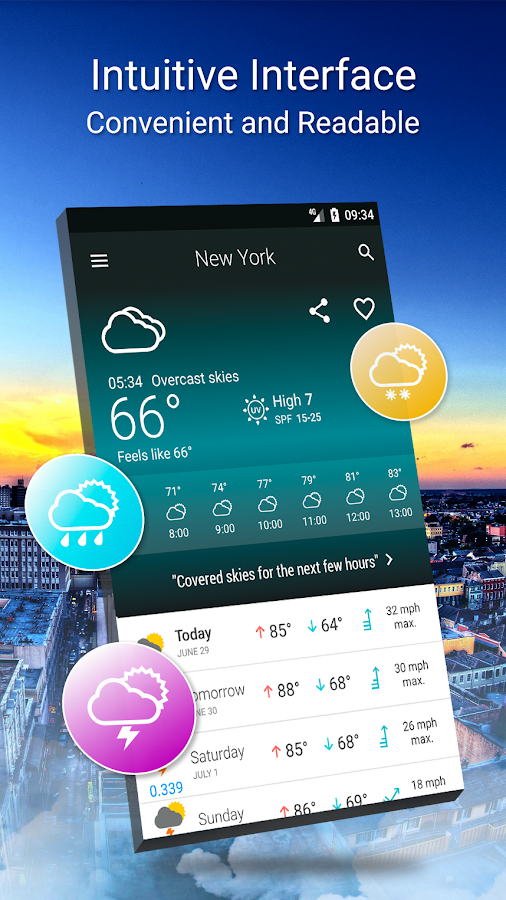 Weather 14 days Screenshot