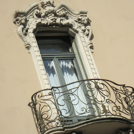 Lugano, Ticino, Switzerland by Serguei Ouklonski - Buildings & Architecture Architectural Detail ( outdoors, window, wall, balcony, building, architecture )