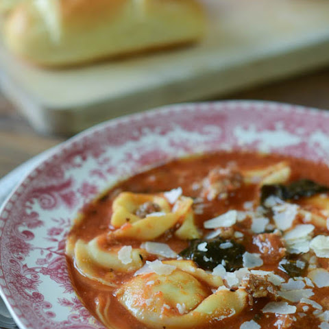 Cheese Tortellini Soup with Kielbasa, Kale, and Cannellini Recipe ...
