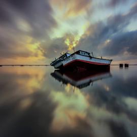 Finest Reflections by Choky Ochtavian Watulingas - Landscapes Travel ( clouds, seashore, shipwrecks, clouds and sea, reflections, cloudscape, seascape, sunrise, morning, skies )
